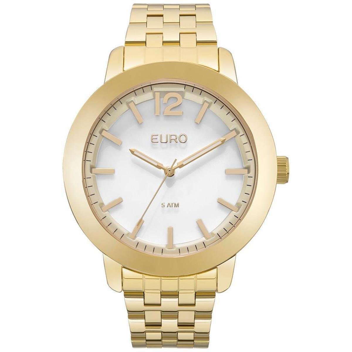 33743776b0371 Relógio Feminino Euro EUY121E6AA 4B 45mm Pulseira Aço Dourado - Compre  Agora   Netshoes