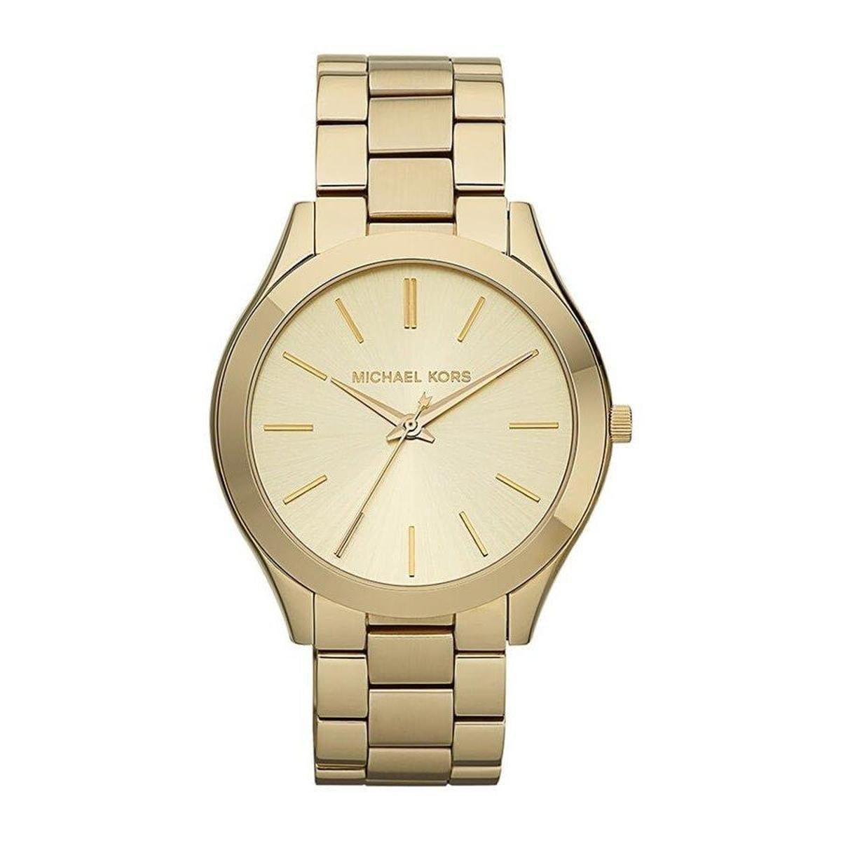 06a16769a43 Relógio Feminino Michael Kors MK3179 4DN - Dourado - Compre Agora ...