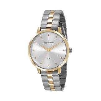 Relógio feminino prata analógico Mondaine 53659LPMVBE2