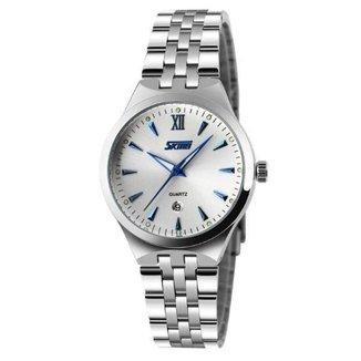 Relógio Feminino Skmei Analógico 9071 Branco