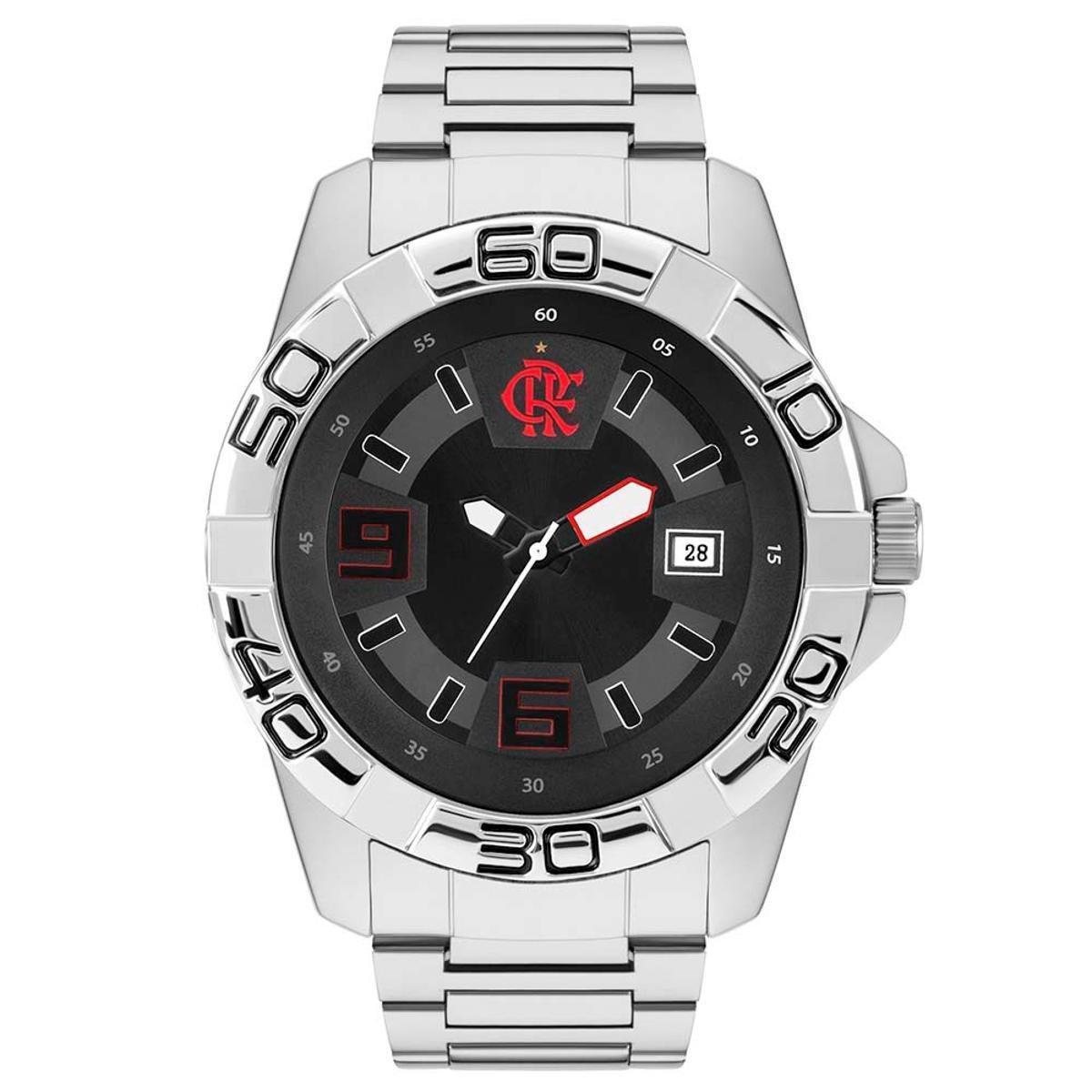 9dc15452490 Relógio Flamengo FLA2415AA 3P - Prata - Compre Agora
