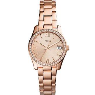 Relógio Fossil Feminino Rosê com Pedras - ES4318/1JN