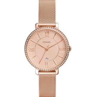 Relógio Fossil Feminino Rosê com Pedras  - ES4628/1JN
