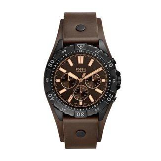 Relógio Fossil Garret 44mm Couro Masculino