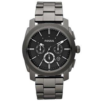 Relógio Fossil Masculino Machine Preto FS46621PN