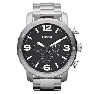 Relógio Fossil Masculino Nate Prata JR13531PN