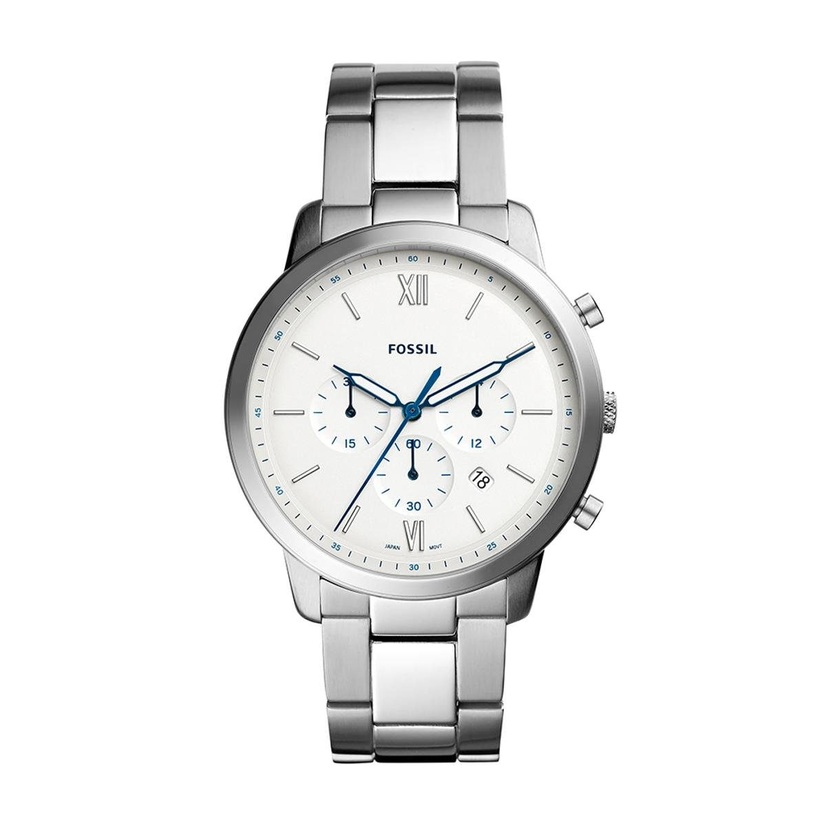 dcf6ae7c40c Relógio Fossil Masculino Neutra Chrono - FS5433 1KN FS5433 1KN - Prata -  Compre Agora