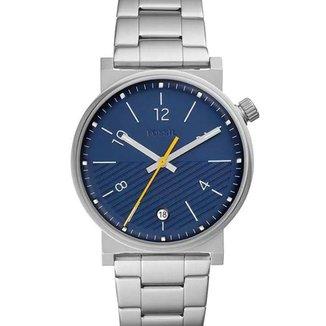 Relógio Fossil Masculino Prata e Azul - FS5509/1KN
