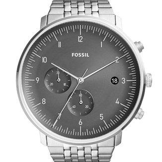 Relógio Fossil Masculino Prata - FS5489/1PN