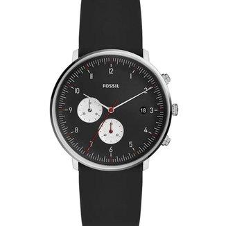 Relógio Fossil Masculino Preto Silicone - FS5484/1PN