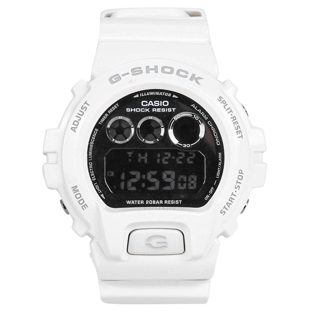 1eca70557eb Relógio G-Shock Digital DW-6900NB - Branco - Compre Agora