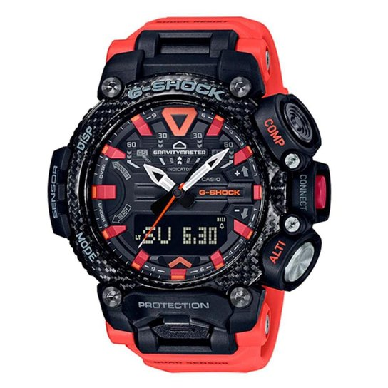 Relógio G-Shock GRAVITYMASTER GR-B200-1A9DR - Laranja