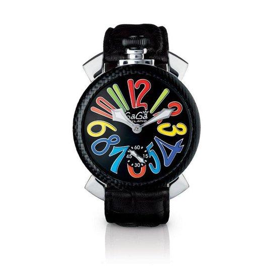 Relógio Gagá  Milano Masculino Preto -  Slim 46mm - 501501 - Preto