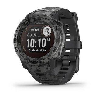 Relógio Garmin Instinct Solar CAMO-Grafite com Monitor Cardíaco de Pulso e GPS