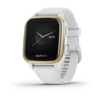 Relógio Garmin Venu Sq Branco com Monitor Cardíaco de Pulso e GPS