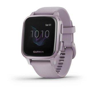 Relógio Garmin Venu Sq Lilás com Monitor Cardíaco de Pulso e GPS