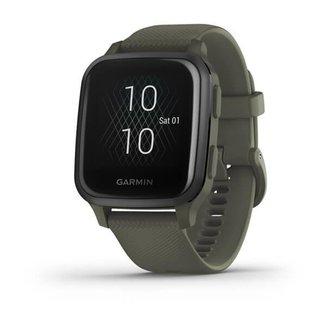Relógio Garmin Venu Sq Music Verde com Monitor Cardíaco de Pulso e GPS