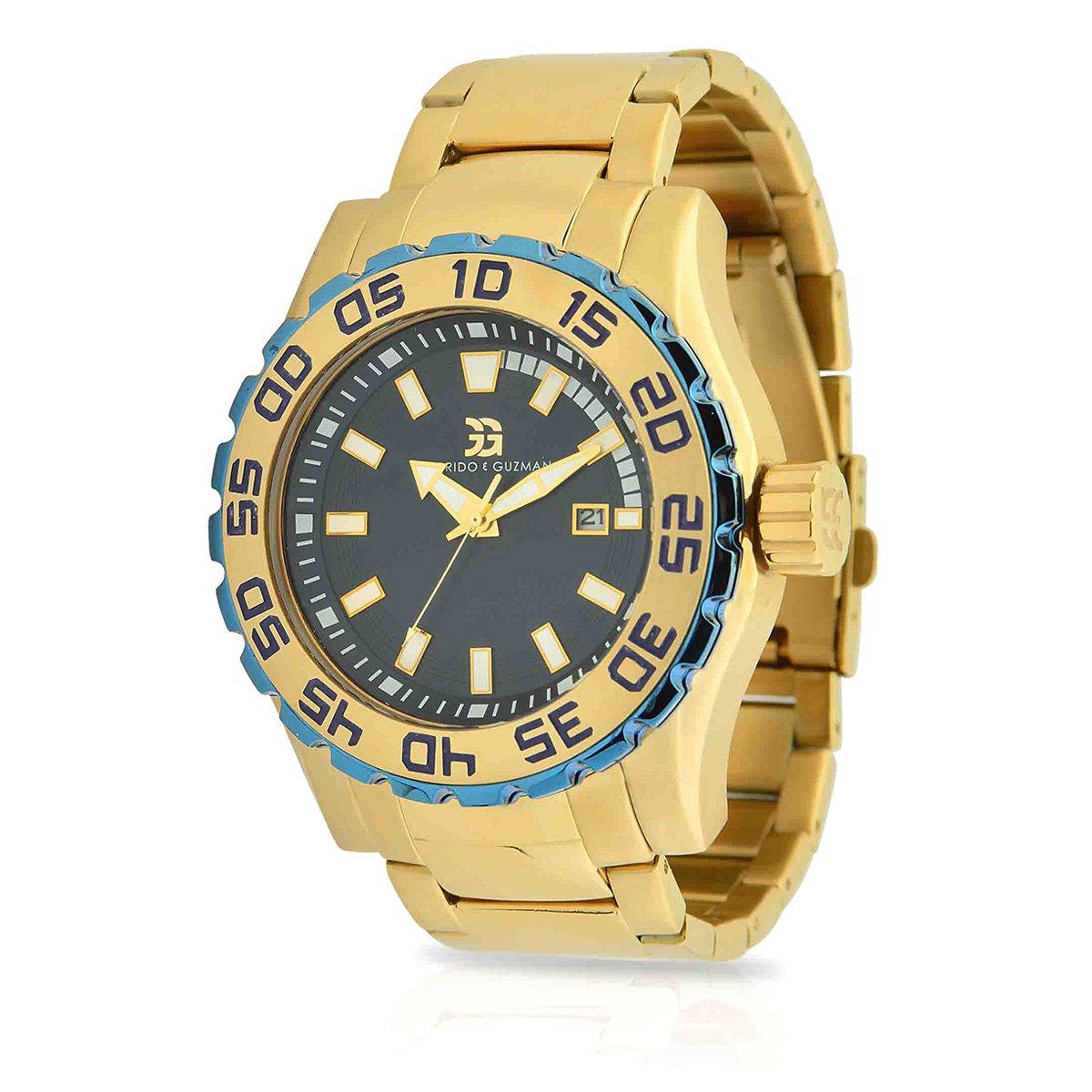 6be1b925193 Relógio Garrido e Guzman Analógico 2046GSG Masculino - Dourado - Compre  Agora