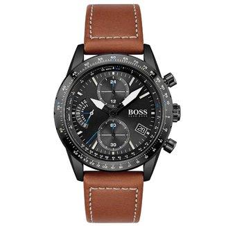 Relógio Hugo Boss Masculino Couro Marrom - 1513851