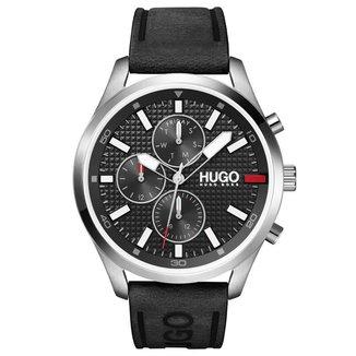 Relógio Hugo Boss Masculino Couro Preto - 1530161