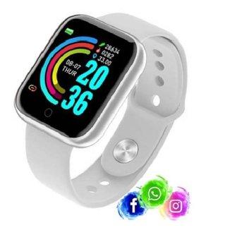Relogio Inteligente Smartwatch D20 Bluetooth Branco