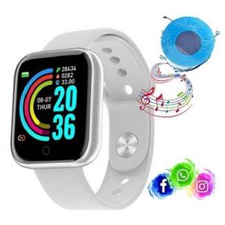 Relogio Inteligente Smartwatch D20 Bluetooth Caixa Bluetooth