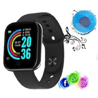 Relogio Inteligente Smartwatch D20 Preto Caixa Bluetooth