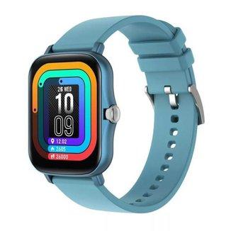 Relógio Inteligente Smartwatch P8 Plus Azul