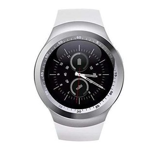 Relogio Inteligente Smartwatch Y1 c/Chip Bluetooth Redondo