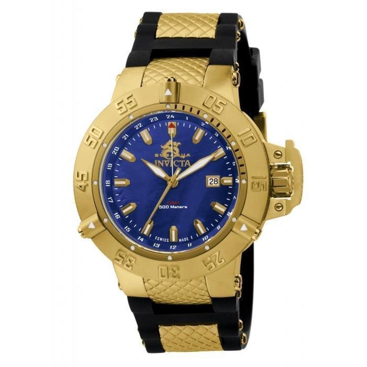 442b7f5027a Relógio Invicta 1150 Subaqua Noma III 50mm Banhado a ouro 18k - Compre  Agora