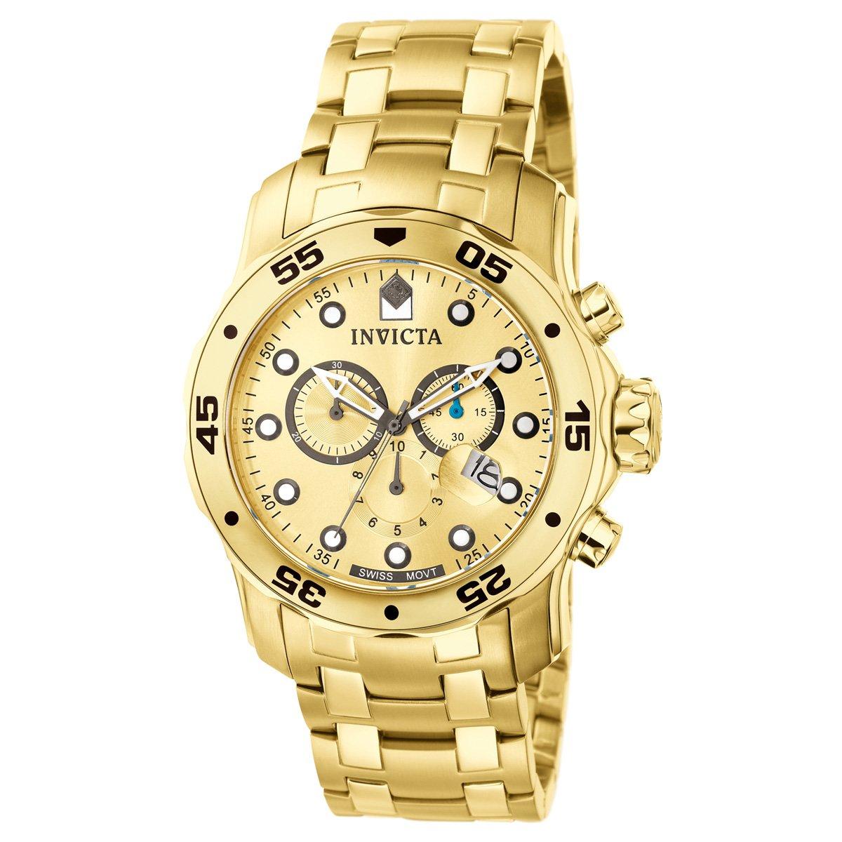 8ec595c7c13 Relógio Invicta Pro Diver-0074 - Dourado - Compre Agora