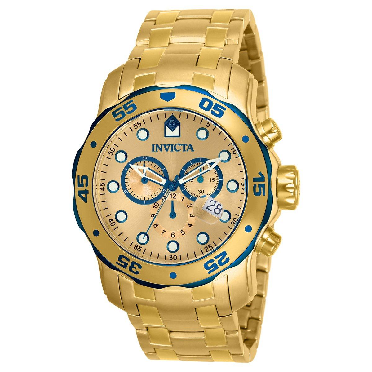23ee90b9bfa Relógio Invicta Pro Diver-80069 - Dourado - Compre Agora