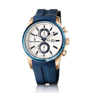Relógio Jean Vernier Pulseira Silicone ATM Unissex Moderno