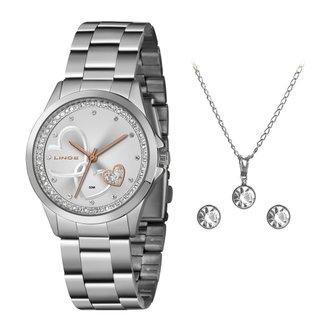 Relógio Lince Analógico com Colar e Brincos Feminino LRMJ107L KX79S1SX
