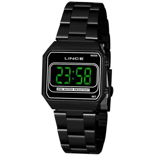 Relógio Lince Digital Led Feminino - Preto