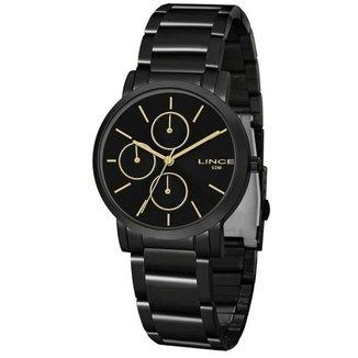 Relógio Lince Preto com Detalhes Dourados - LMN4568L