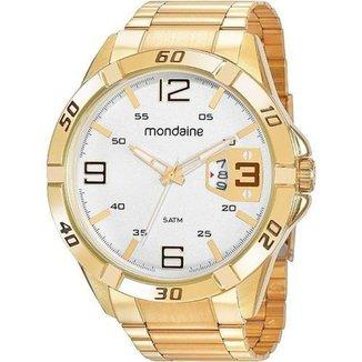 Relógio Masculino Aço Dourado Mondaine 53834GPMVDE4