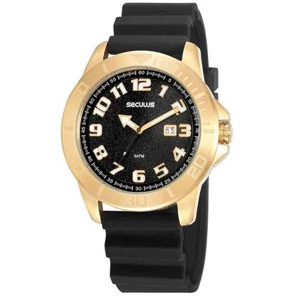 Relógio Masculino Action Dourado Seculus 44002GPSVDU3
