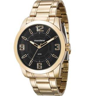 Relógio Masculino Analógico Mondaine Dourado 99140GPMVDE2