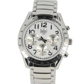 Relógio Masculino Analógico Prata Dumont - SY25017B