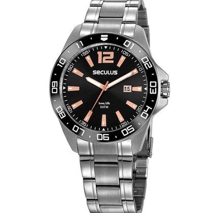 Relógio Masculino Analógico Prata Seculus - 20809G0SVNA4