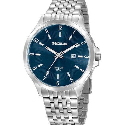 Relógio Masculino Analógico Prata Seculus - 20899G0SVNA3