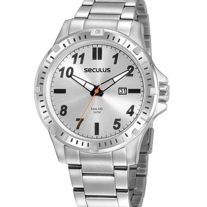 Relógio Masculino Analógico Prata Seculus - 20900G0SVNA3