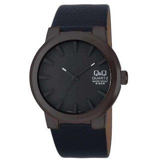 Relógio masculino analógico Q&Q Quartz Q740J502Y preto