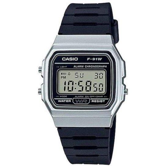 Relógio Masculino Casio Digital F-91Wm-7Adf - Preto