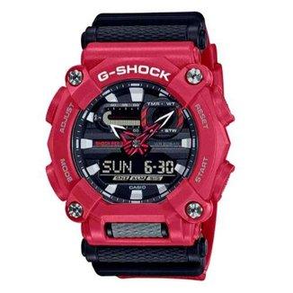 Relógio Masculino Casio G-Shock Anadigi Vermelho GA-900-4ADR
