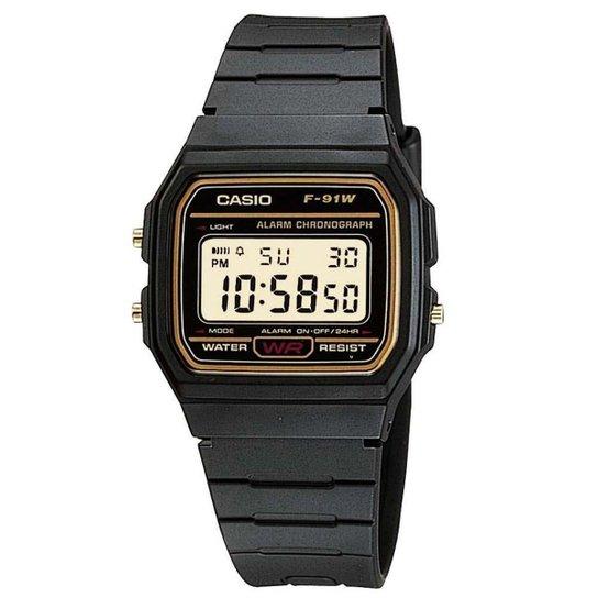 Relógio Masculino Casio Vintage F91wg9qdf - Preto