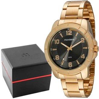 Relógio Masculino Casual Dourado Mondaine 99531GPMVDE2
