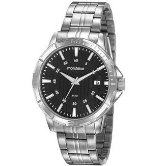 Relógio Masculino Casual Prata Mondaine 99498G0MVNE1