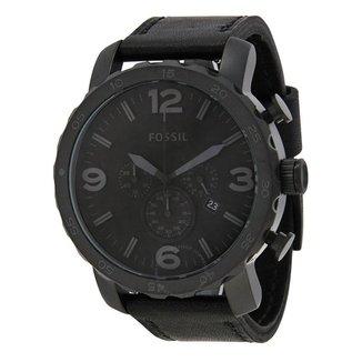 Relógio Masculino Fossil JR1354/2PN 48mm Couro Preto